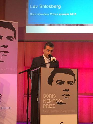 Boris Nemtsov's Brücke. Rede von Lev Shlossberg, Gewinner von Boris Nemtsov-Preis