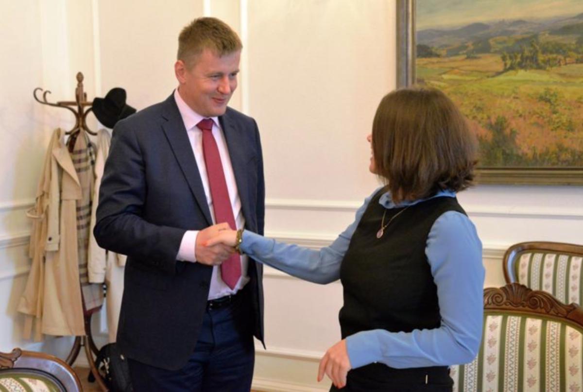 Zhanna Nemtsova und Olga Shorina trafen sich mit dem Außenminister der Tschechischen Republik